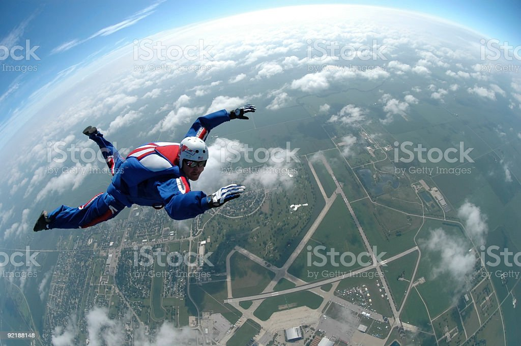 Royalty Free Stock Photo: Patriot Skydiver royalty-free stock photo