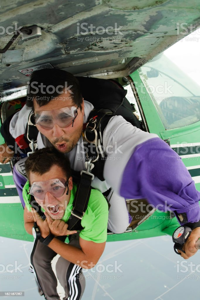 Royalty Free Stock Photo: Tandem Skydivers royalty-free stock photo