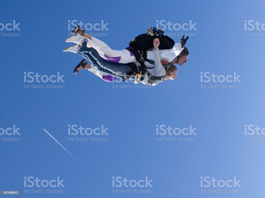 Royalty Free Stock Photo: Tandem Skydiving royalty-free stock photo
