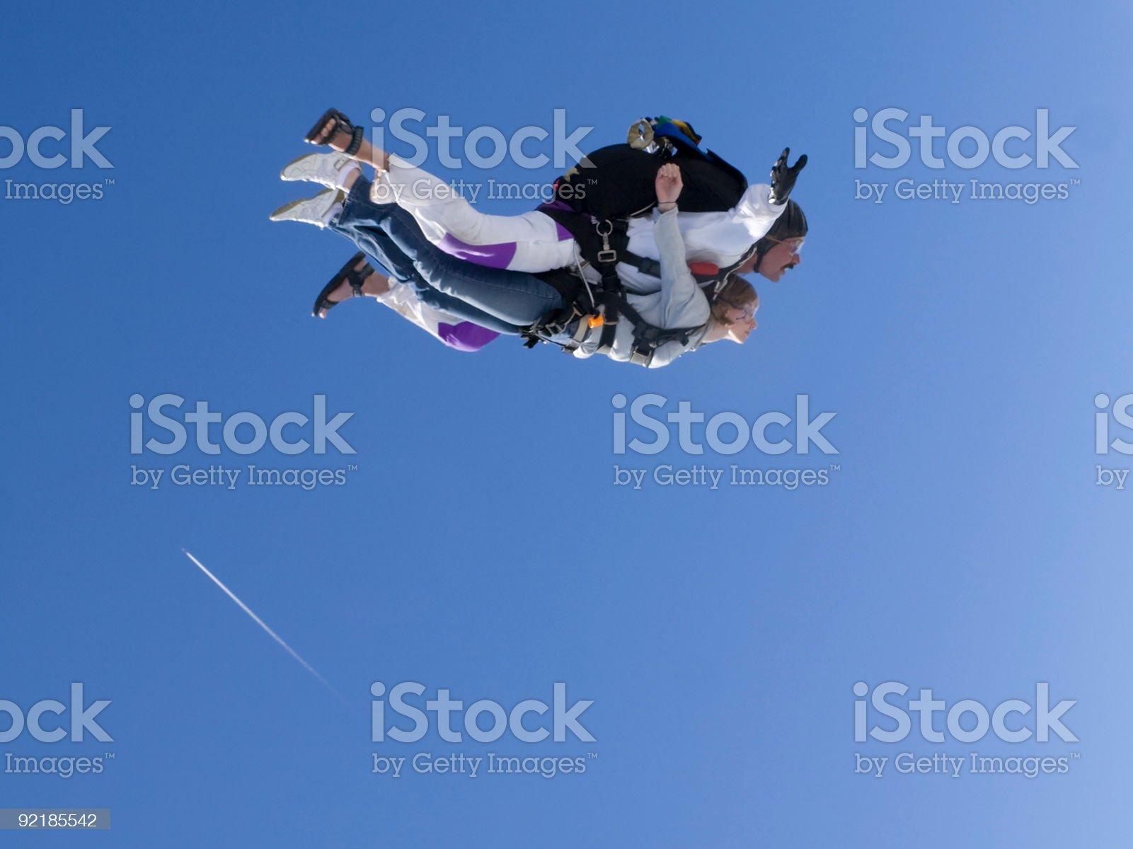 Royalty Free Stock Photo: Tandem Skydiving royalty-free stock photo