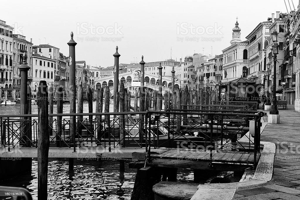Royalty Free Stock Photo: Venice. Black and White royalty-free stock photo