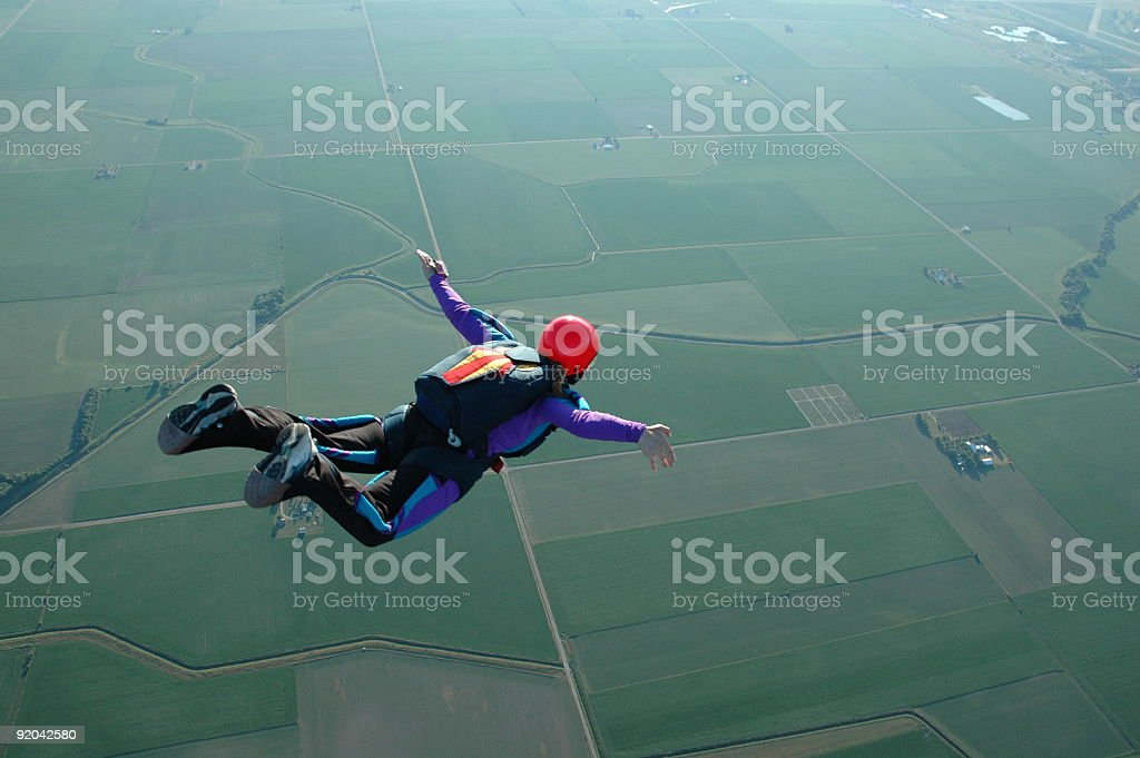Royalty Free Stock Photo: Woman Skydiving - I Can Fly! stock photo