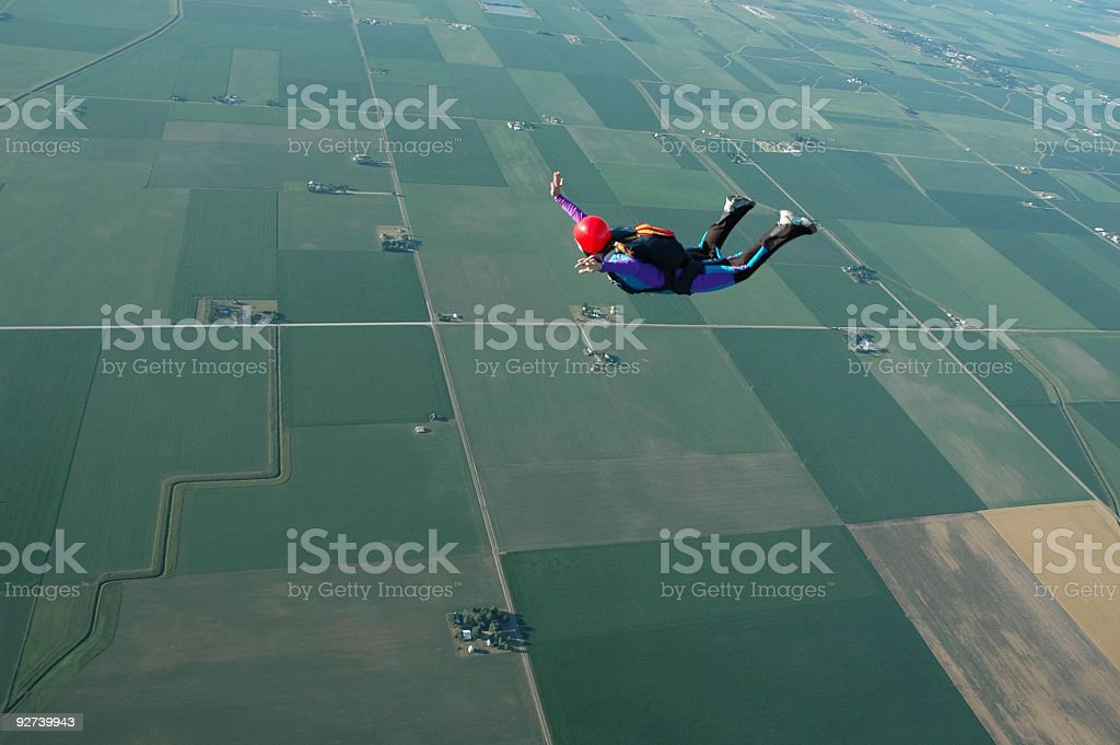 Royalty Free Stock Photo: Woman Skydiving royalty-free stock photo
