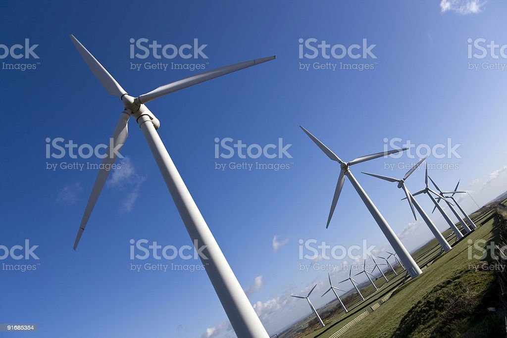 Royd Moor windfarm in Yorkshire royalty-free stock photo