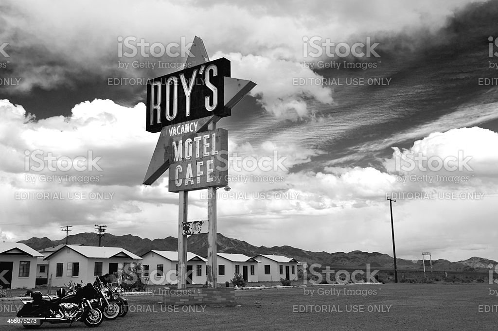 Roy's Motel and Cafe on Route 66 royalty-free stock photo