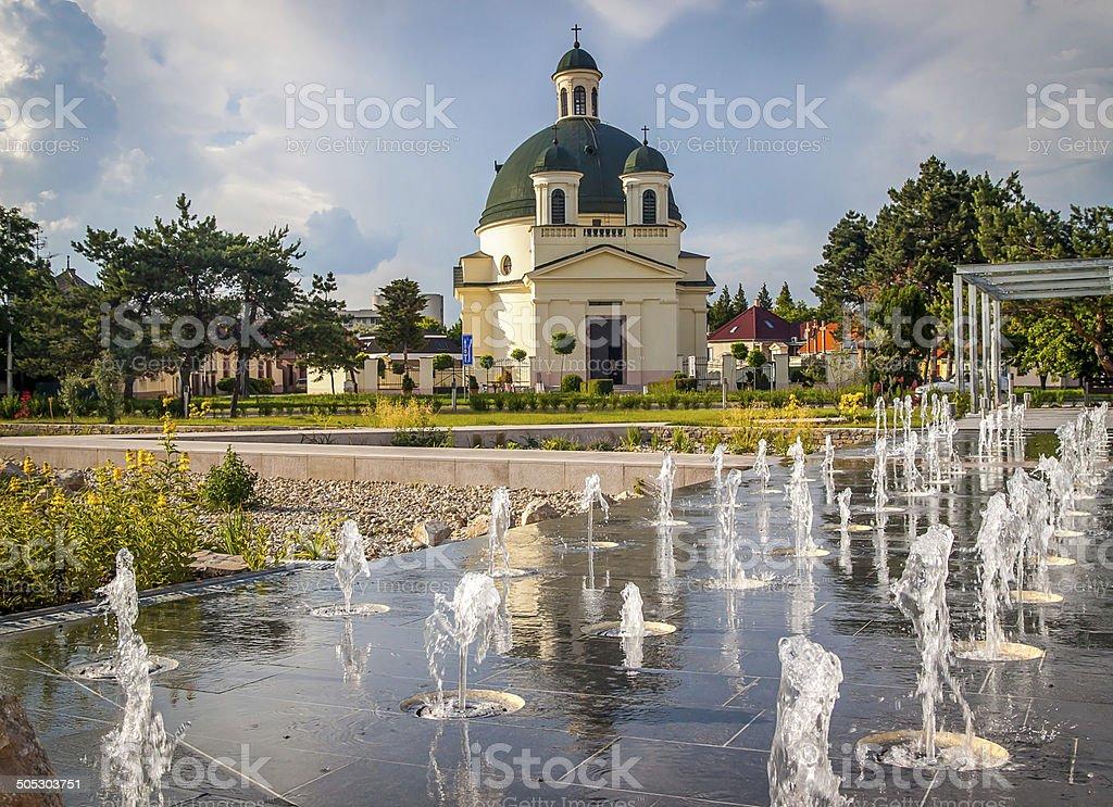 Rozalia Church in the Slovak town of Komarno stock photo