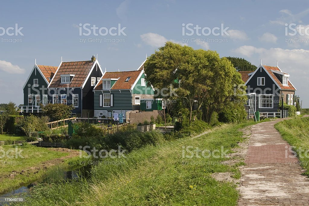 Rozewerf in Marken, The Netherlands stock photo