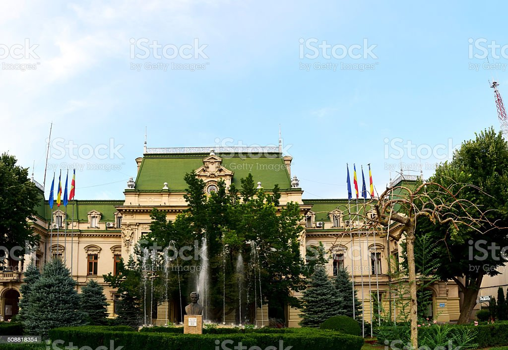 Roznovanu Palace Iasi stock photo