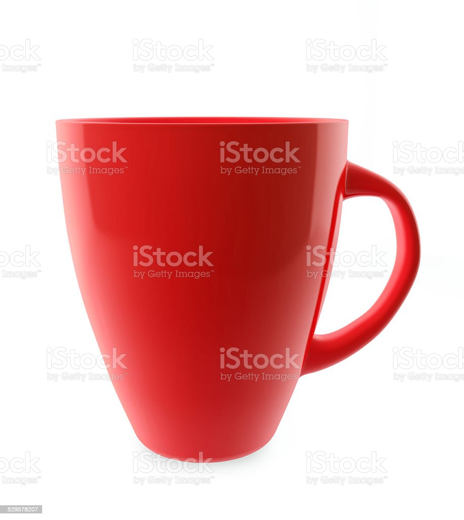 Rred tea cup stock photo