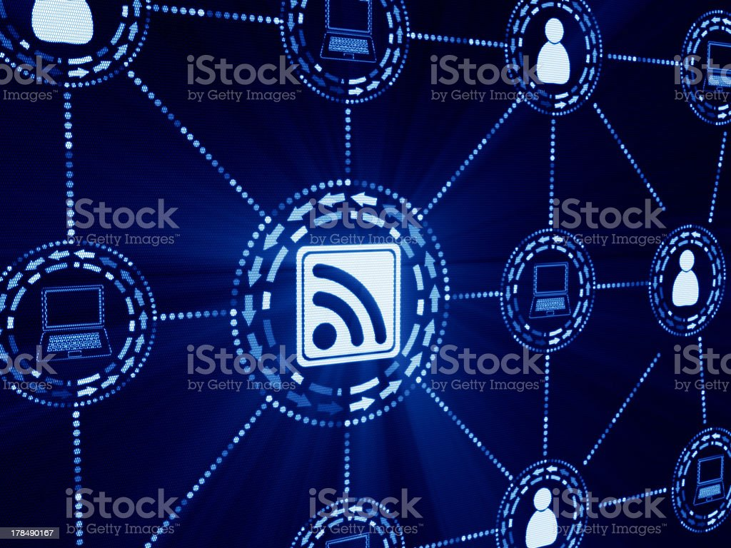 rss abstract stock photo