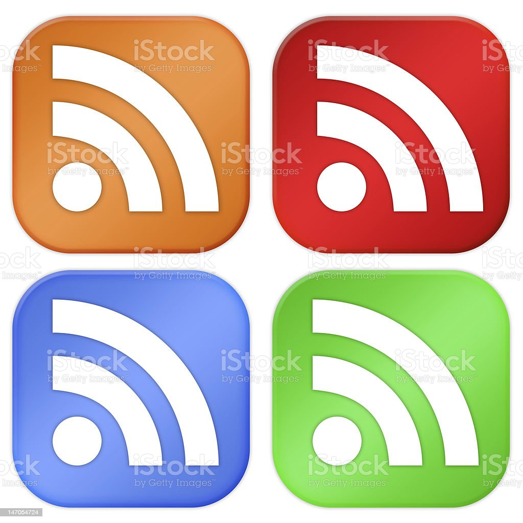 Rss icons royalty-free stock photo