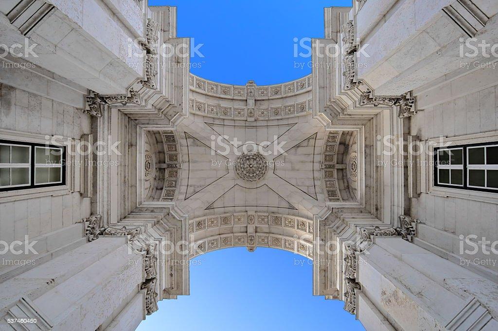 Rua Augusta Arch in Lisbon stock photo