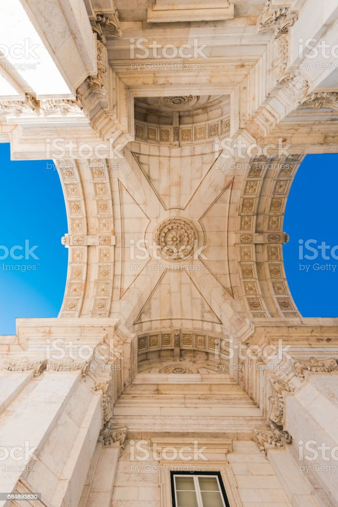 Rua Augusta Arch in Lisbon, Portugal stock photo
