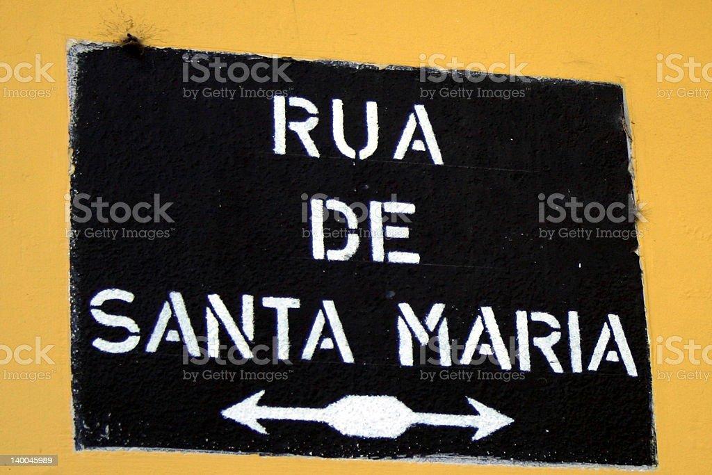 Rua de Santa Maria royalty-free stock photo
