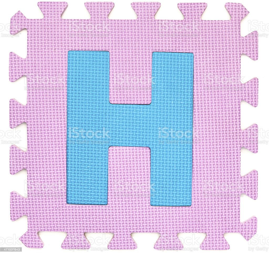 Rubber alphabet H isolated royalty-free stock photo