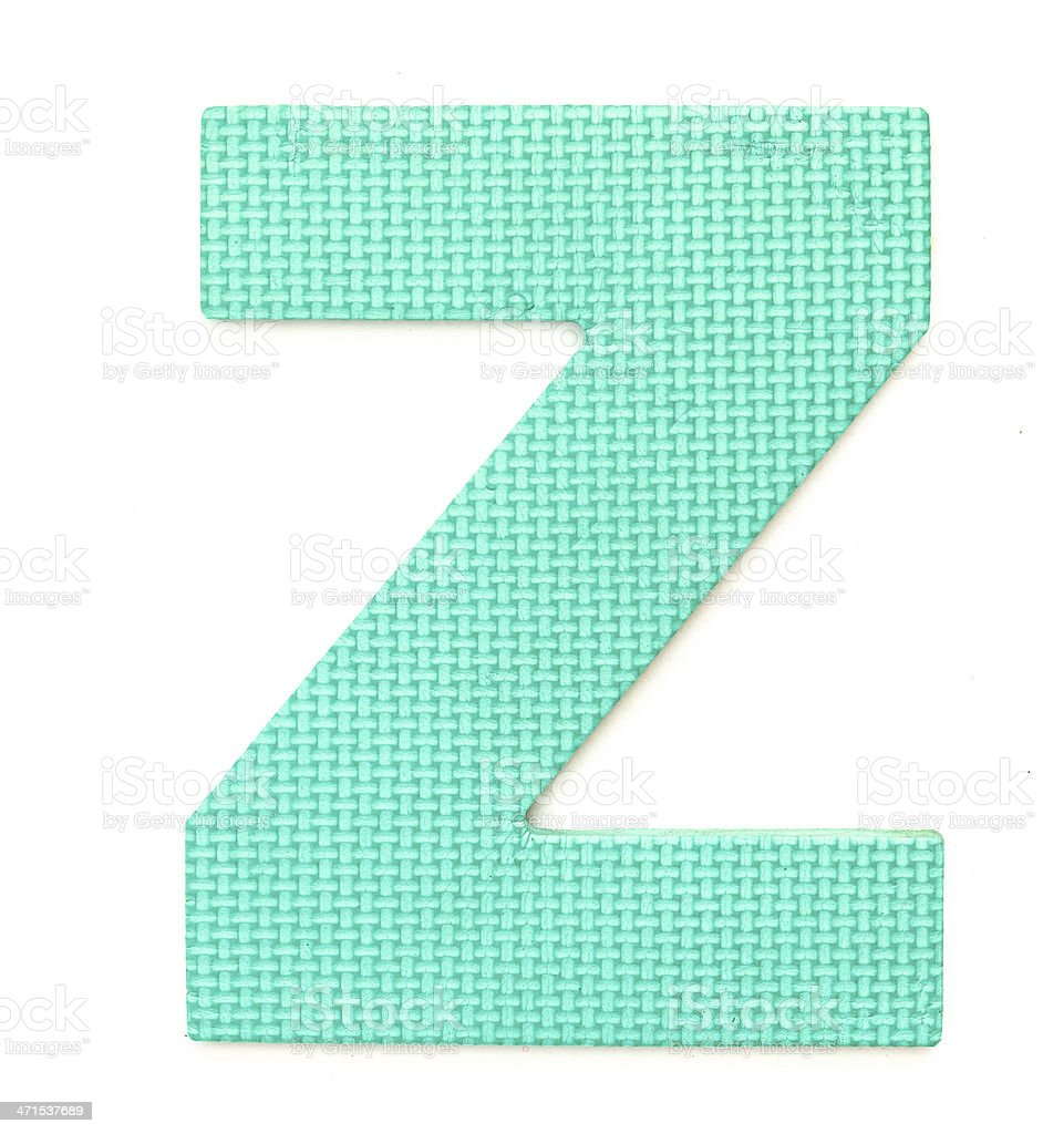Rubber alphabet Z isolated royalty-free stock photo