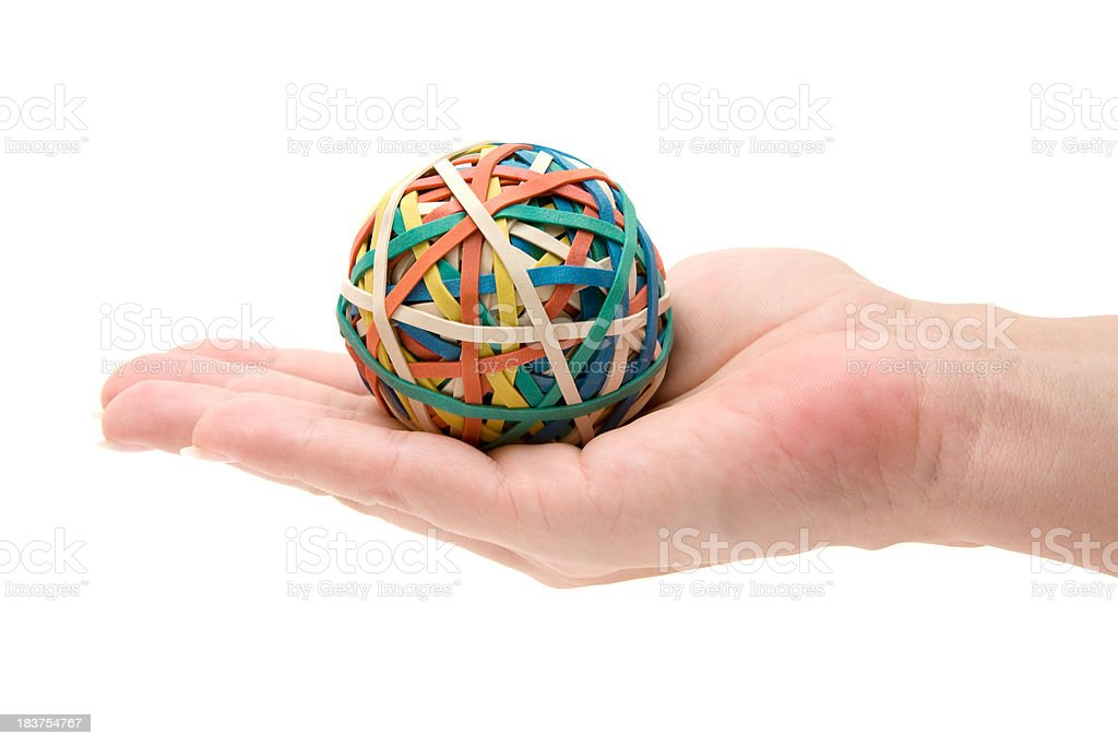 Rubber Ball in Her Hand stock photo