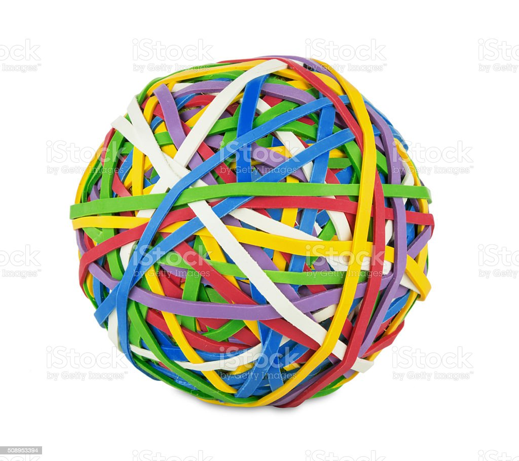 rubber ball stock photo