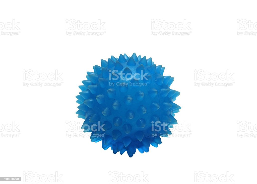 rubber balls massage blue on a white background stock photo