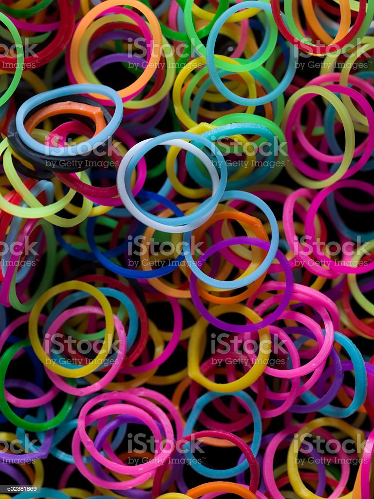 Rubber Band Background stock photo