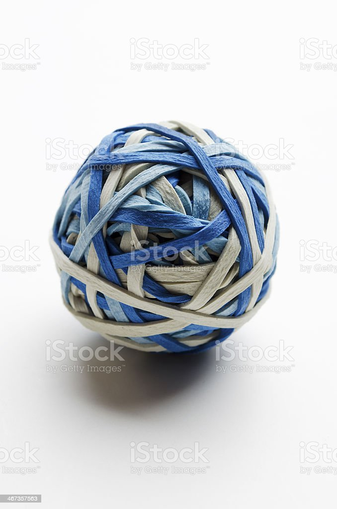 Rubber band ball stock photo