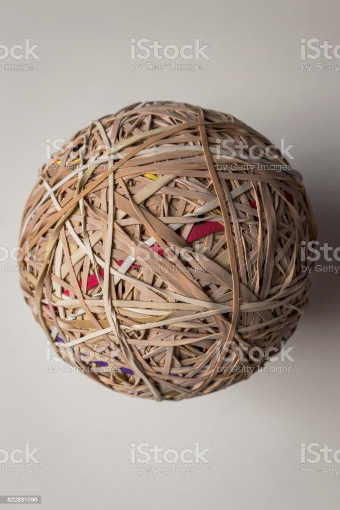 Rubber Band Ball stock photo