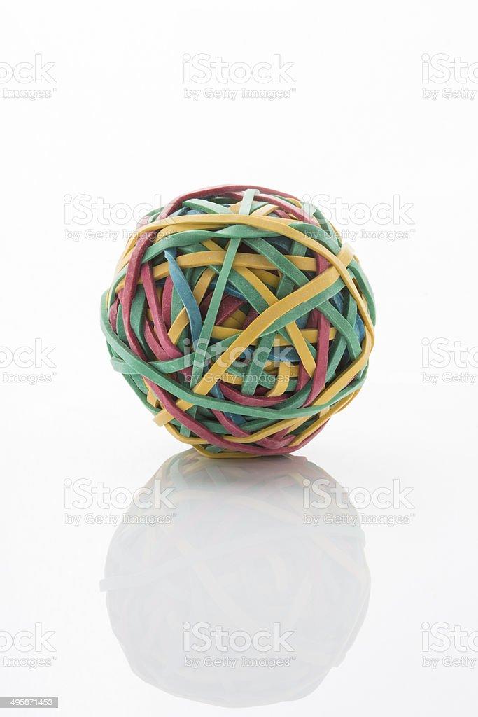 Rubber band ball - Stock Image stock photo