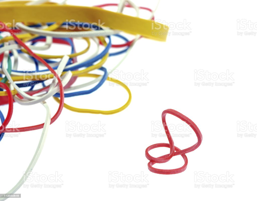 Rubber bands stock photo