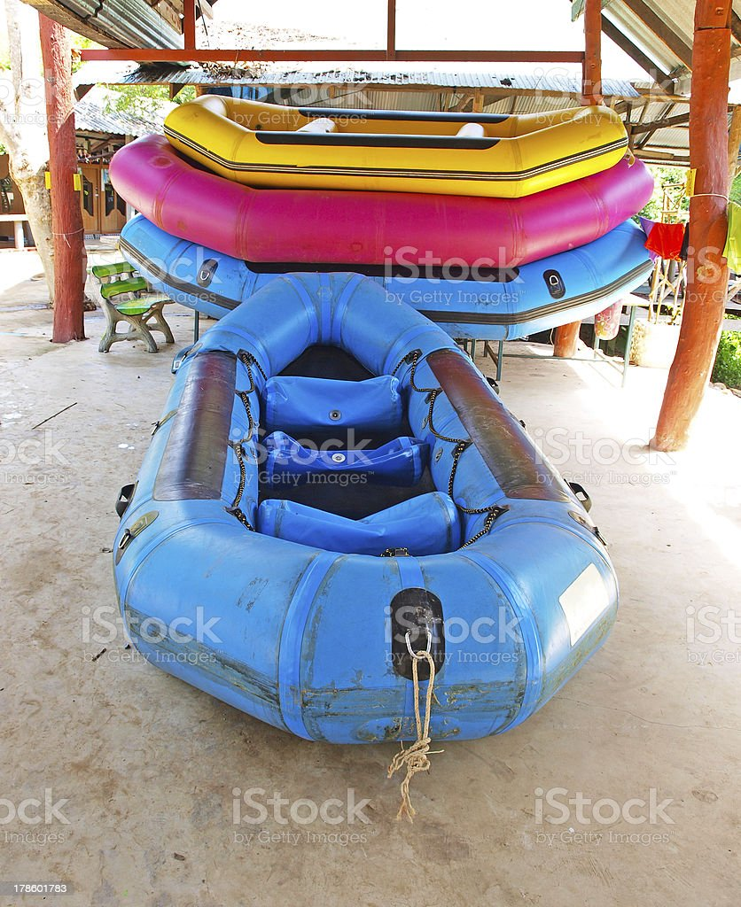Rubber boat royalty-free stock photo