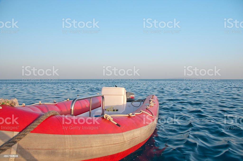 Barco de borracha foto royalty-free