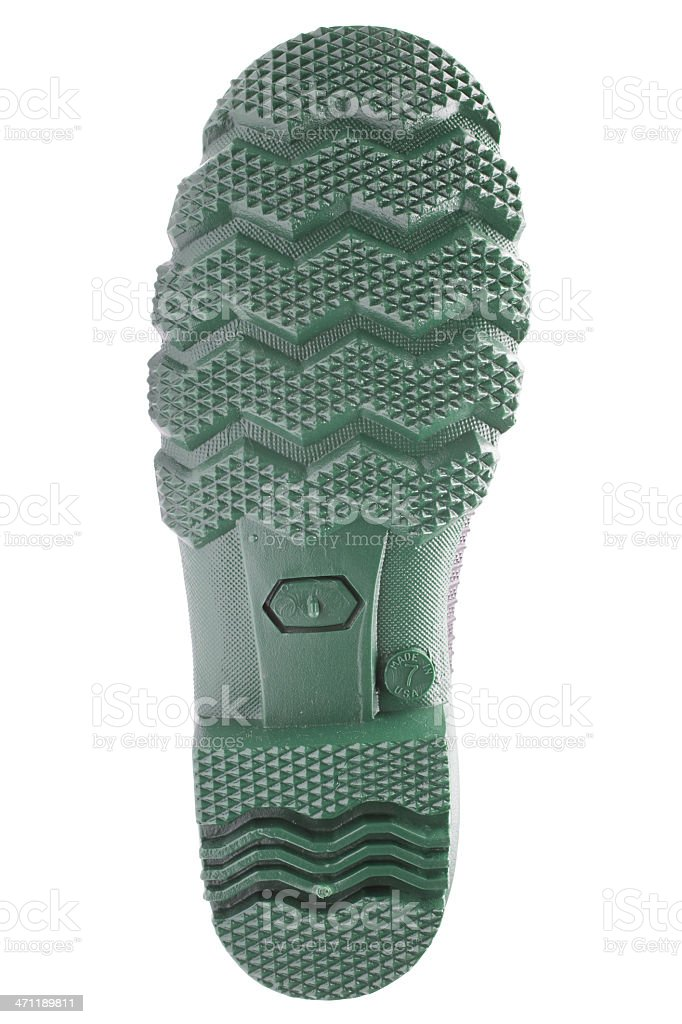 rubber boot sole (XXXL) royalty-free stock photo