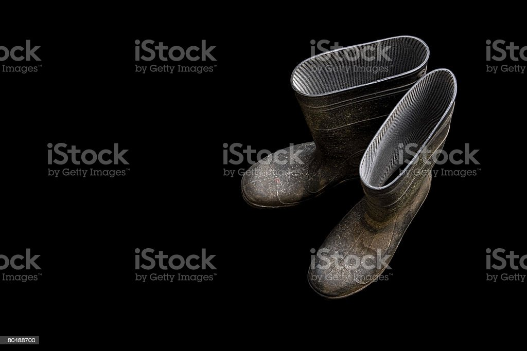 Rubber boots stock photo