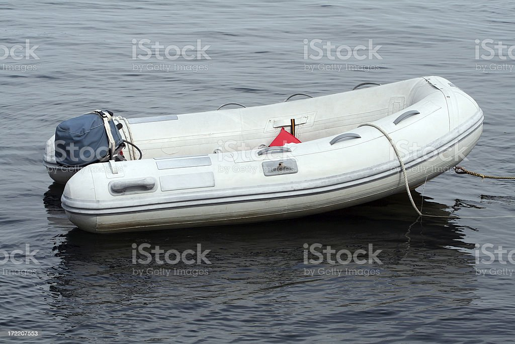 Rubber Dinghy stock photo