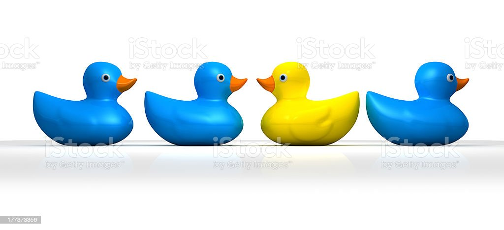 Rubber Duck Against The Flow royalty-free stock photo