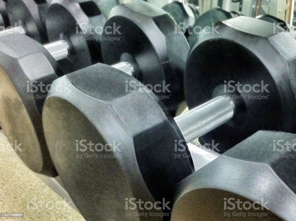 Rubber Dumbbells royalty-free stock photo