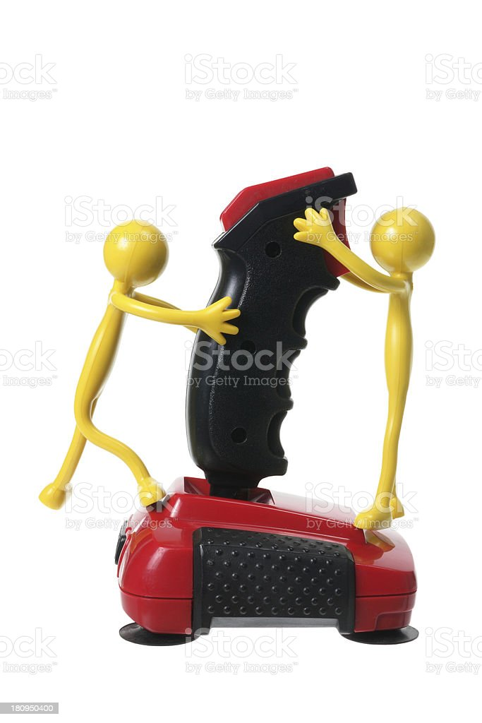 Rubber Figures and Joystick royalty-free stock photo