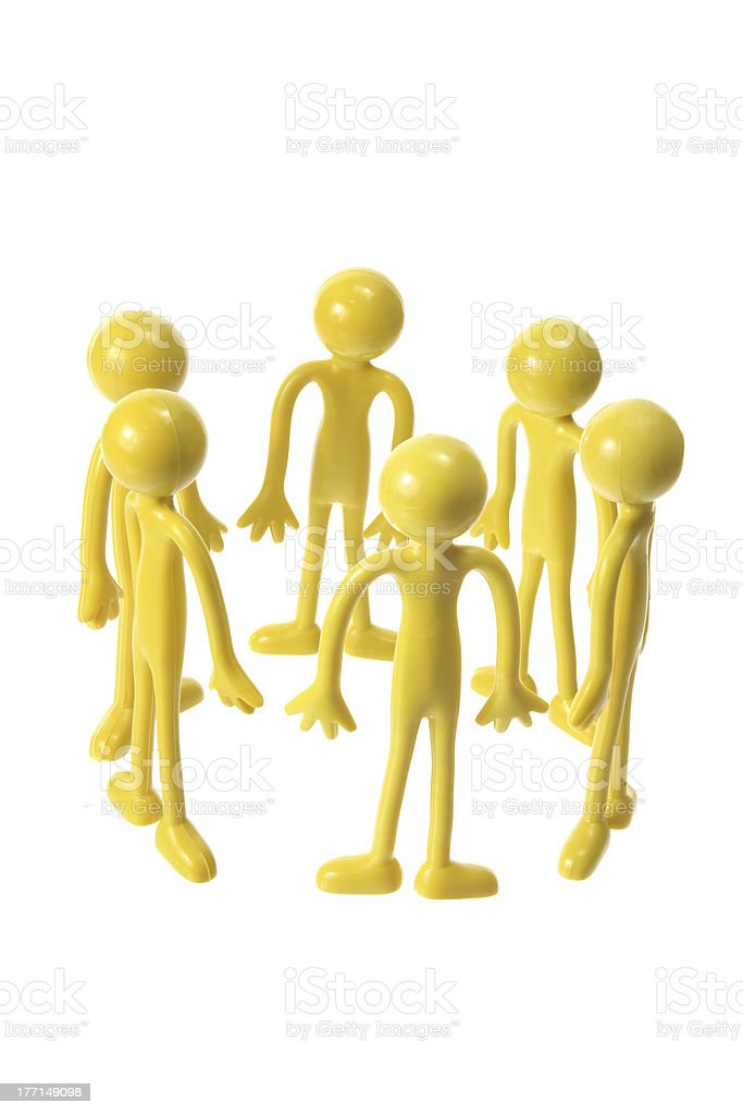 Rubber Figures in Circle royalty-free stock photo