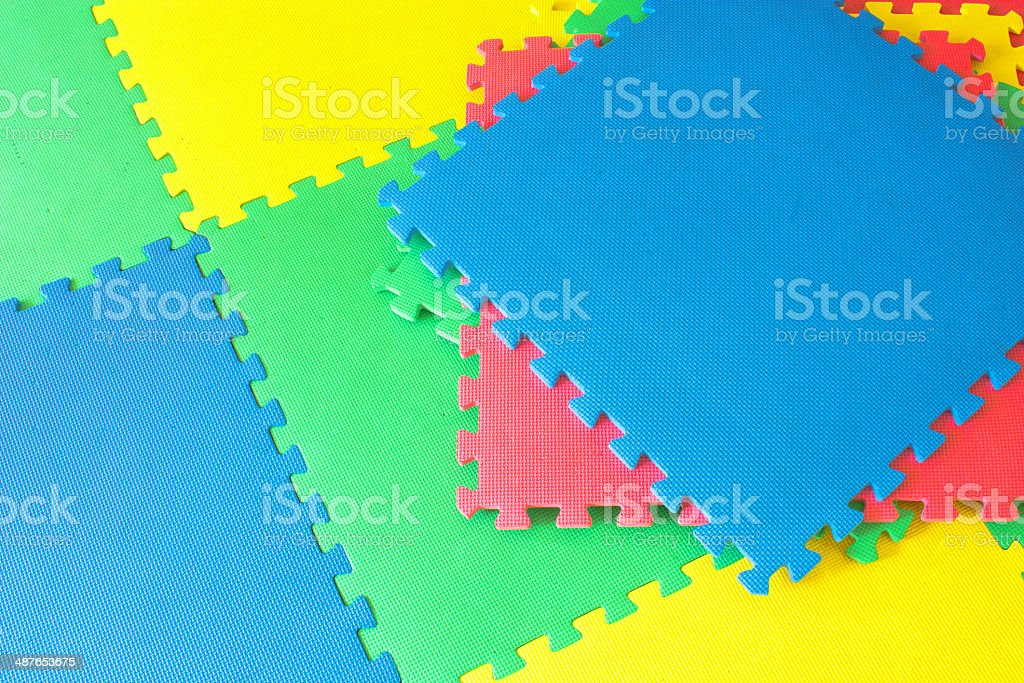 rubber foam for baby play and   background stock photo