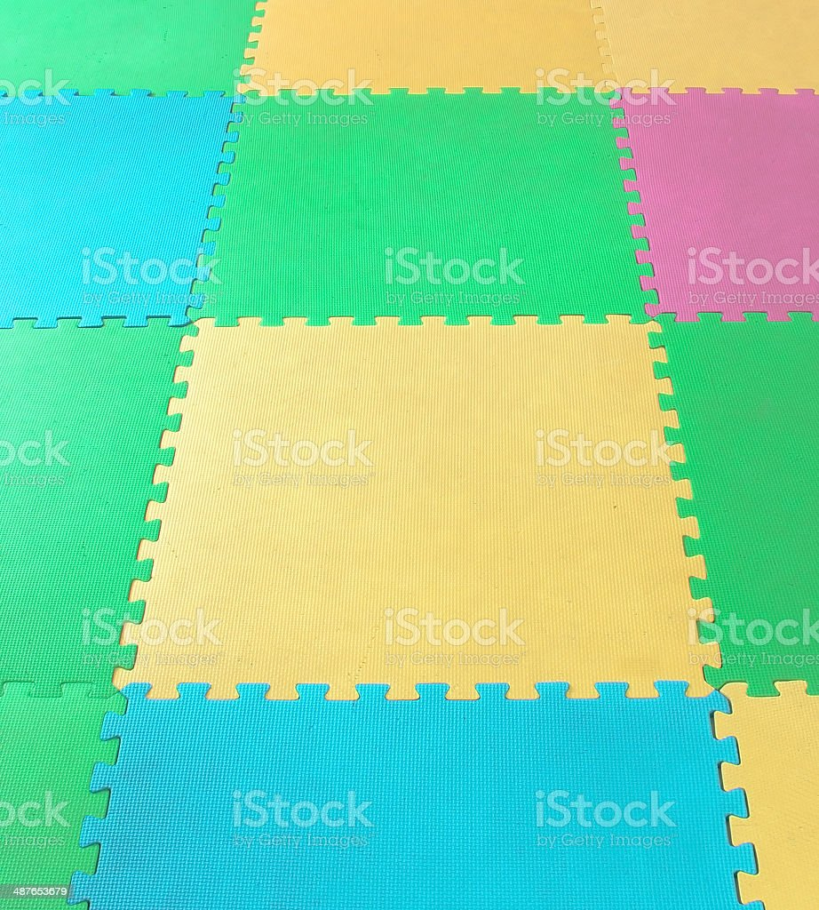 rubber foam Puzzles  background stock photo