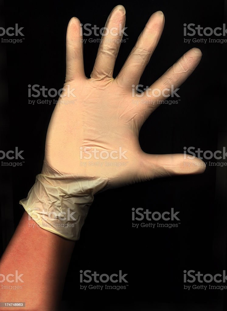 Rubber Glove Hand royalty-free stock photo