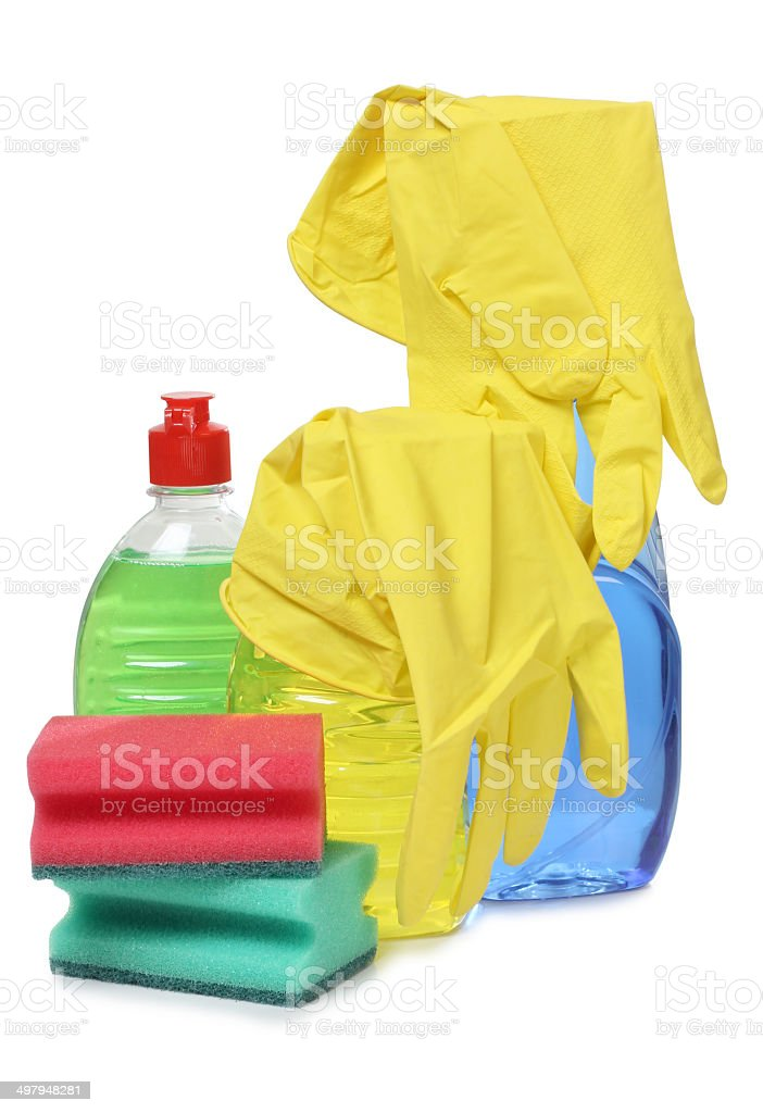 Rubber gloves royalty-free stock photo