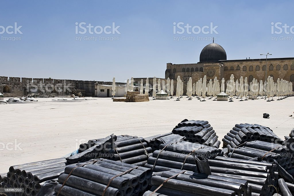 Rubber in foreground Temple Mount royalty-free stock photo