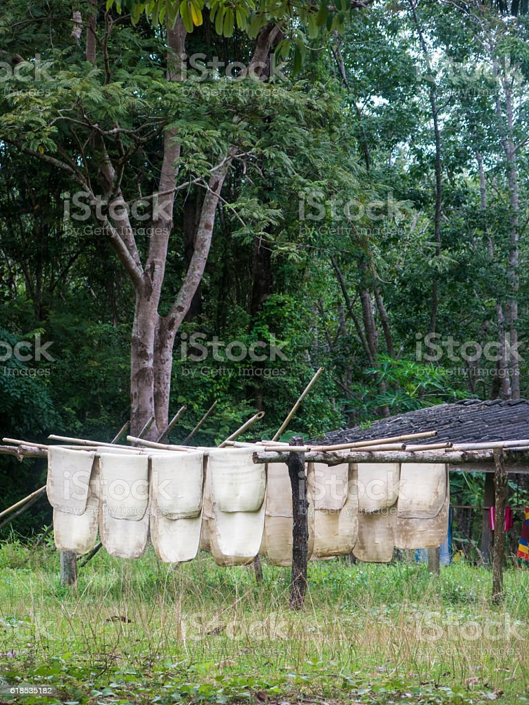 Rubber Industry Platation Production Solar Drying Line Raw Product stock photo