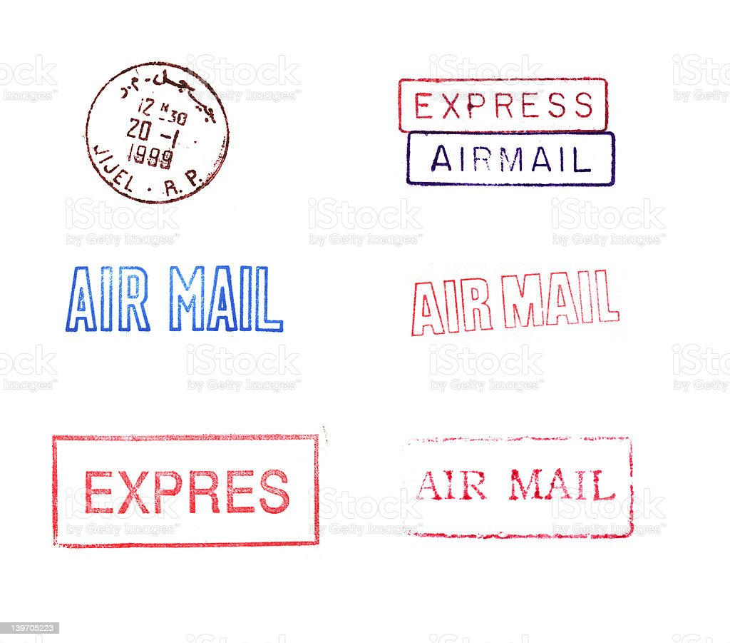 Rubber Mail Stamps royalty-free stock photo