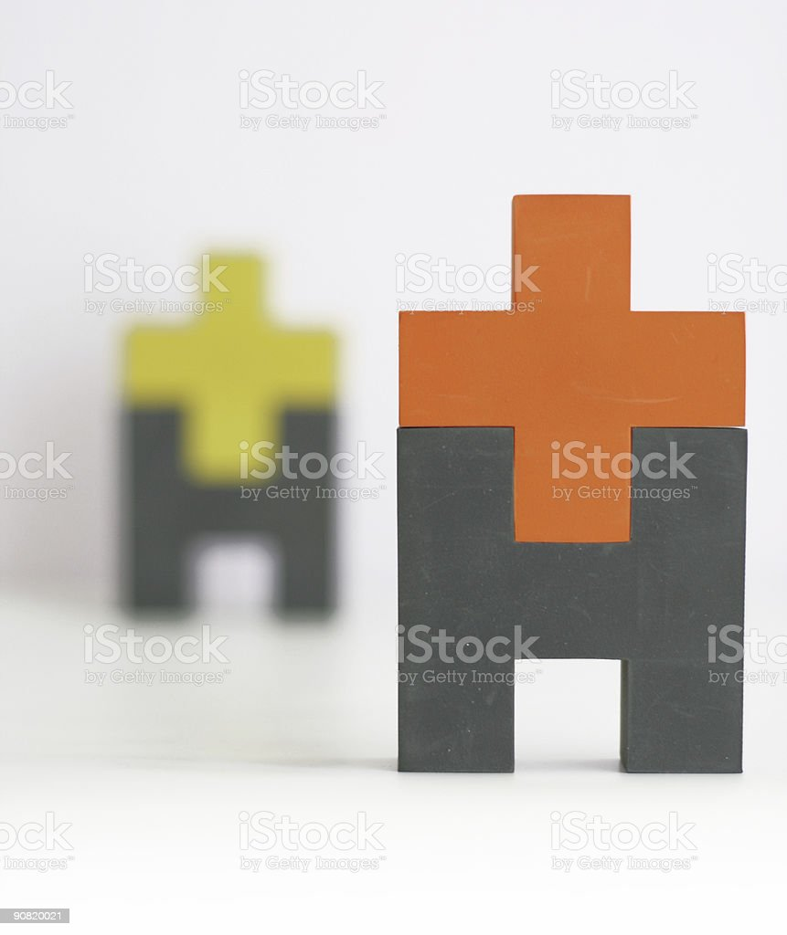 Rubber men stock photo