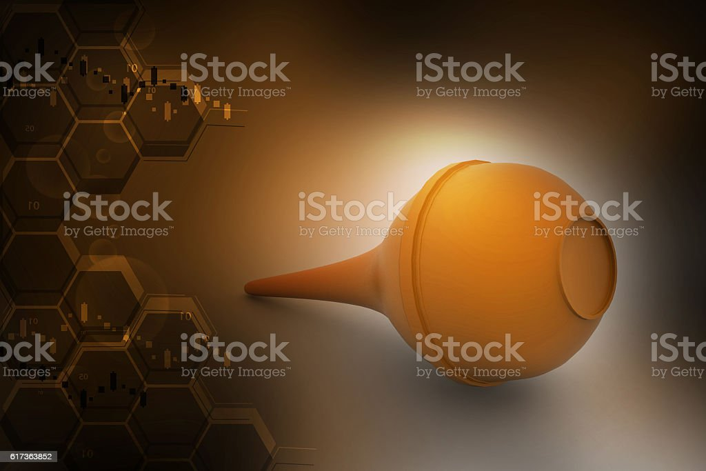 rubber pear, enema stock photo
