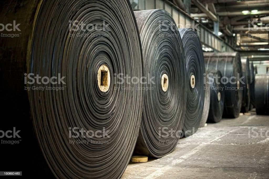 Rubber rolls stock photo