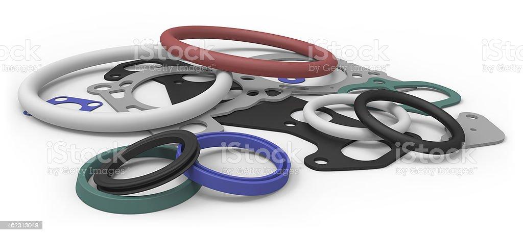 Rubber sealing stock photo