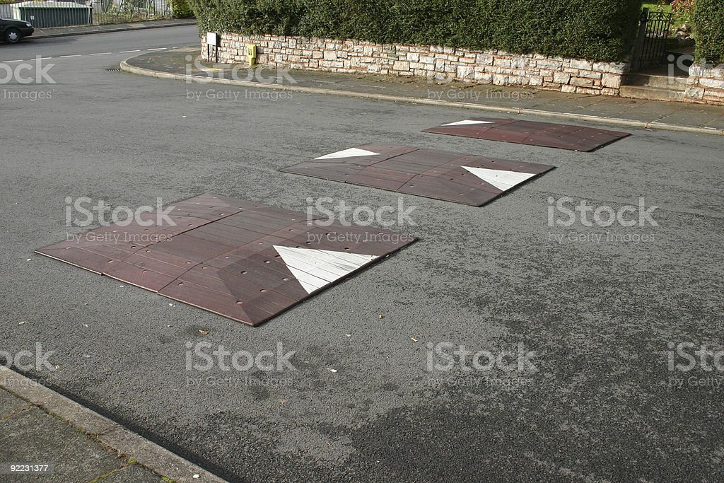 Rubber speed control humps royalty-free stock photo