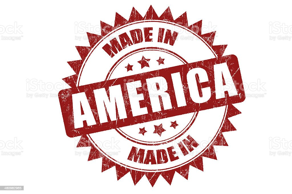 Rubber stamp 'America' stock photo